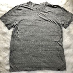 Quicksilver gray striped T-shirt
